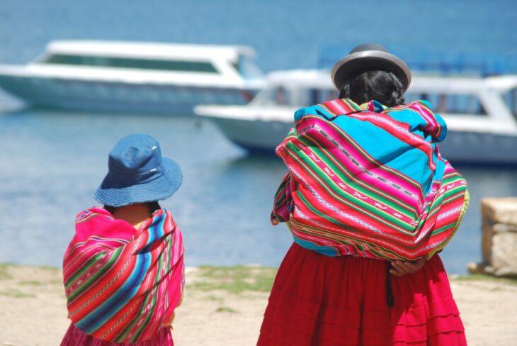 boliwijska kobieta z córeczką