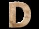 duża litera D