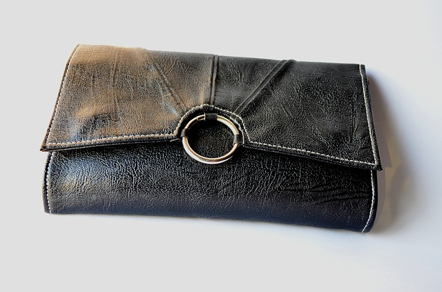 stary skórzany portfel